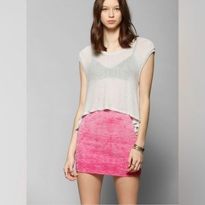 UO / SPARKLE & FADE / PINK MINI SKIRT
